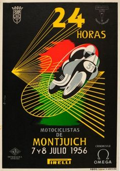 24 Hours Montjuich, 1956 - original vintage poster by Faber listed on AntikBar.co.uk