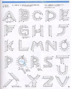 free crochet bobble stitch letter patterns - Google zoeken