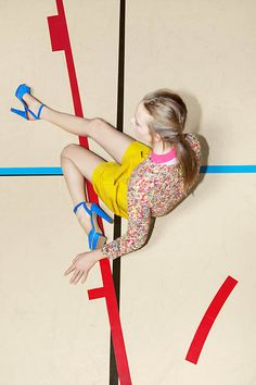 Nimue Smit photographed by Viviane Sassen for Carven Spring/Summer 2012 Campaign