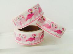 Pink Flamingo Washi Tape by GoatGirlMH on Etsy