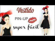 DIY | Como fazer vestido PIN-UP para Barbie e bonecas similares