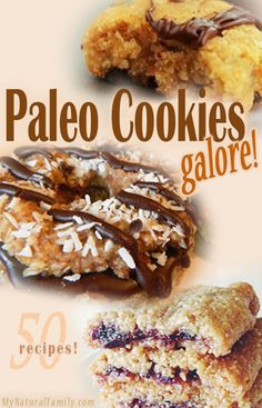 I don't think cookies are clean and i don't agree with all of these being Paleo but sometimes you need a better alternative - so i'm calling it  50 (almost) Paleo Cookies Recipes Galore!
