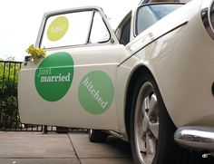Wedding Decals, Photoshoot, Styling, Photobooth, Getaway Car, VW Type 3