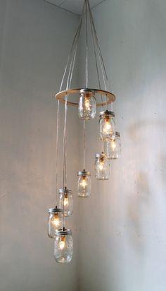 lamp met meerdere jampotjes