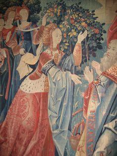 French tapestry, c. 15th C., detail. Musee de Cluny, Paris,France.-photo by Breton Kaiser-Shinn