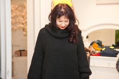 Warm and cosy, knitted sweater