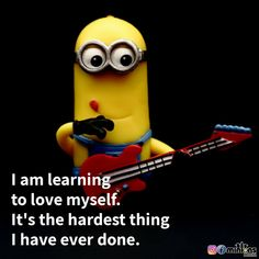 Minion Rock, Minion 2, Funny Minion Memes, Minions Quotes, Funny Inspirational Quotes, Cute Quotes, Meneires Disease, Minions Language, Disney Quotes