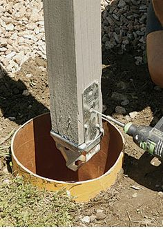 How To Anchor Post To Concrete Mailbox Concrete