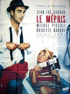 Le Mepris | French film poster, 1963. (source eatbrie.com)