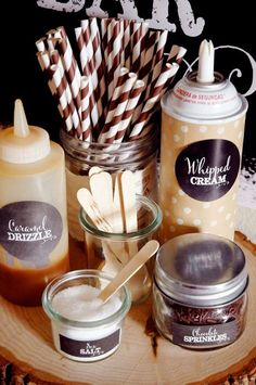 hot chocolate bar Looking to create an adorable hot cocoa bar for your next celebration? This Snickerdoodle Cocoa and Cookies Bar has all of the cozy vibes of winter. Imagine your gue Hot Coco Bar, Hot Chocolate Party, Hot Chocolate Toppings, Hot Chocolate Bar Wedding, Chocolate Bars, Chocolate Sprinkles, Chocolate Coffee, Delicious Chocolate, Baby Shower Ideas
