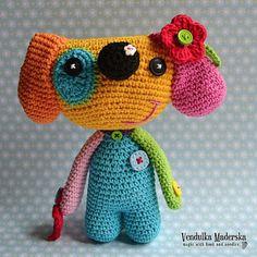 Crochet pattern rainbow dog by VendulkaM crochet by VendulkaM