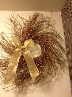 i might just get this for the holidays its so beautiful and so unique <3     Pip Berry Wreath Fall Twiggy Wreath 25 Inch by BunchesOfBerries, $36.00