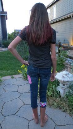 Girls Patchwork Brandi Jeans Juniors size by RhapsodyReinventions