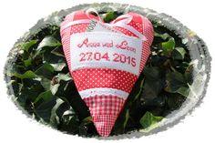 Geldgeschenk zur Hochzeit Herz  im Landhausstil von Antjes Design auf DaWanda.com
