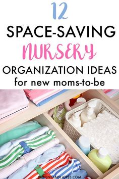 12 Easy Nursery Organization Ideas to Save Space Easy nursery organization ideas. Learn how to organize the nursery. Easy storage tips for baby clothes, dresser drawers, and more! Baby Clothes Storage, Baby Clothes Quilt, Organizing Baby Clothes, Diy Clothes, Baby Dresser Organization, Organization Ideas, Organize Dresser Drawers, Kitchen Organization, Diaper Changing Station