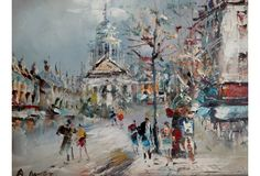 Monmartre Street Scene, Paris