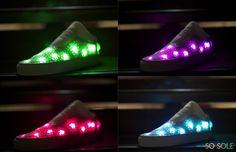 Tecnoneo: Las zapatillas de deporte SoSole descargan información en medios sociales y emiten colores para que coincida con sus rasgos de personalidad