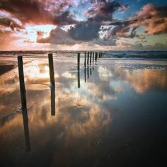 Ocean & Clouds by carstenmeyerdierks denmark sky sunset travel clouds ocean summer beautiful Region Syddanmark Ocean & Clouds carstenmeye Ocean Sunset, Water Reflections, Photos Of The Week, Science Nature, Strand, Landscape Photography, Travel Photography, Travel Photos, Tourism