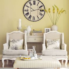 Yellow country living room