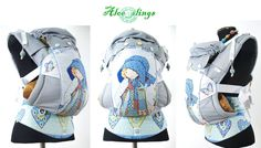 Aloe Slings Soft Structured carrier. Full buckle. 100% pure cotton. Tweeny tot size. Includes pouch. by slingOmonkey on Etsy