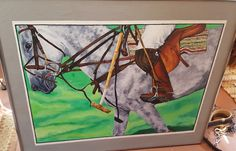 Polo Acrylic original artwork  by Susan Grim