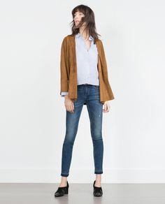 SKINNY FRAYED JEANS - View all - Jeans - WOMAN | ZARA United Kingdom