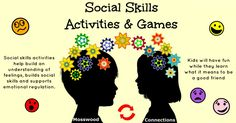 Social Skills activities help build an understanding of feelings, social skills & support emotional regulation. Developing good social skills through play!