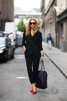 black with a POP of colour.