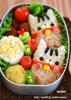 キャラ弁☆コロ~ンとネコちゃん♪ by momo** - 22 Kids' Bento Boxes that your Little Ones will Love Bento Box Lunch For Kids, Bento Kids, Cute Bento Boxes, Bento Food, Cute Food, Yummy Food, Little Lunch, Aesthetic Food, Food Humor