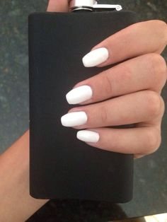 White Acryllic Nails