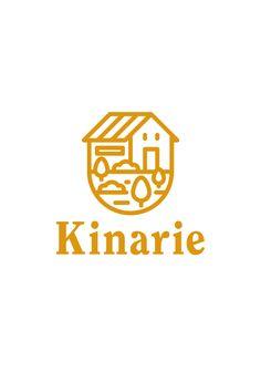 Ehime Matsuyama / Design / Branding / Logo / Paket Deluxe Kinarie-A taizo Logo Branding, Branding Design, Brand Identity Design, Japan Logo, Logo Inspiration, Restaurant Logo, Logo Simple, Typographie Logo, Farm Logo