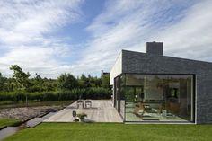 Villa Frenay, a modern Nordic villa, in Lelystad, Netherlands, by 70F architecture