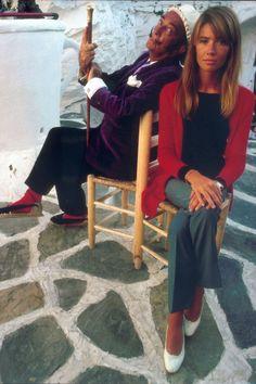 Salvador Dali and Françoise Hardy, Cadaques, 1968