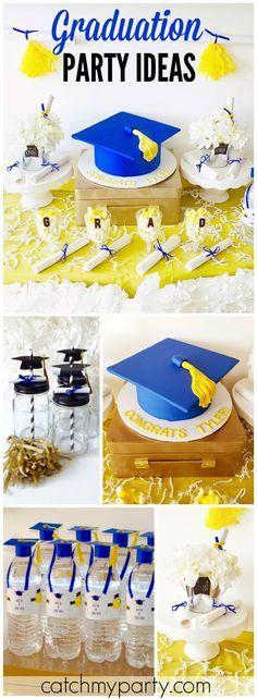 Centerpiece for graduation party SDSU | PARTY IDEAS ...