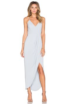 Shona Joy Stellar Drape Dress in Powder Blue