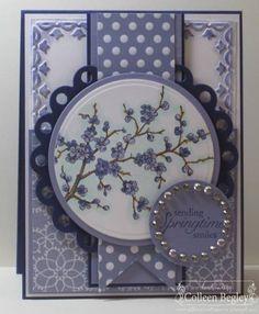 pretty in purple...springtime card...lavender cherry blossoms...