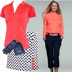 Shop Women's Golf Clothes | Golf4Her- love the coral color. It's about more than golfing,  boating,  and beaches;  it's about a lifestyle  KW  http://pamelakemper.com/area-fun-blog.html?m