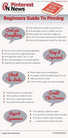 #Infographic-beginners-guide-to-pinning #pinterest #socialmedia