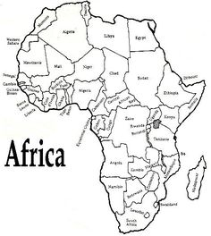 World Map Coloring Page with Countries Beautiful Printable African Map with Countries Labled Free Printable Maps Printable Africa Map Geography Map, Teaching Geography, World Geography, World Map Coloring Page, Coloring Pages, African Animals, African Art, African Countries Map, Paises Da Africa