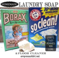 Make your own liquid laundry soap - costs just pennies per load - also works for washing floors