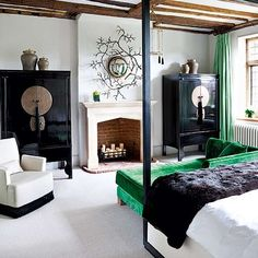 Chinese whispers: Oriental decorating trends via roomenvy   - Oriental-influenced bedroom