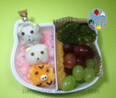 Rilakkuma dango in a bento lunch