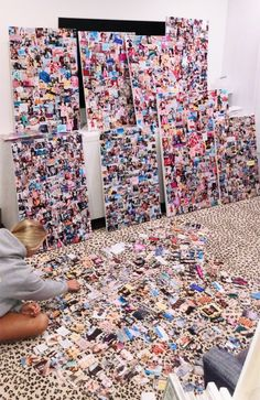 maybe do this so you don't have to individually hang each photo? Bedroom Inspo, Room Decor Bedroom, Cute Room Decor, Girl Bedroom Designs, Room Goals, Aesthetic Room Decor, Dream Rooms, My New Room, Picture Wall