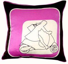 Nook Rider Silk Pillow