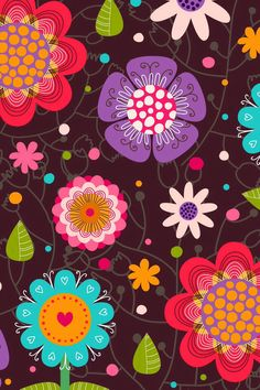 Lively flowers wallpaper