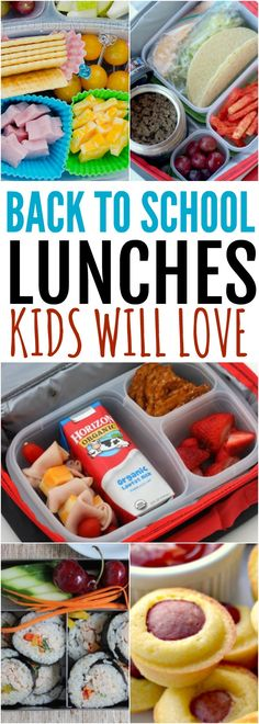 Find easy back to school lunch ideas for kids here. 20 quick and easy lunch ideas they will actually eat! Even the pickiest eaters are sure to love these!