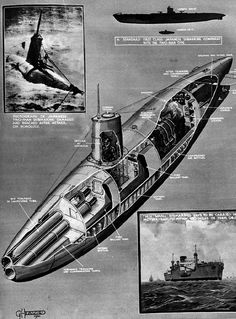 Japanese two men submarine