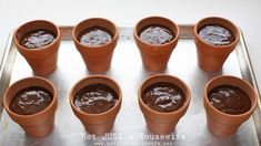 flower pot cakes...cute idea for a play date treat or birthday party!