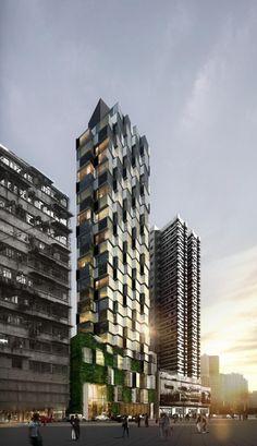 """Composite Building"" | Architects: Aedas | Location: 78-88 Sai Yee Street, 78-88 Sai Yee Street, Mong Kok, Hong Kong | Photographs: Courtesy of Aedas"