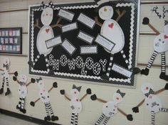 Snow-ology winter bulletin board idea. Fun way to teach students about snow! http://www.mpmschoolsupplies.com/ideas/1241/snow-ology-winter-bulletin-board-idea/